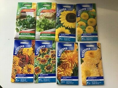 Cheapest Job Lot Of Mixed Flower Sutton Seeds Perfect 8 Packets For £5