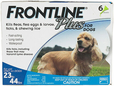 Frontline Plus For Dogs 6 pk (23-44 lbs)