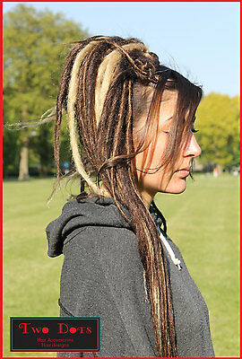 Brown & Blonde Mix Dread Falls, Hair Pieces, 20 Inches, Synthetic, Unisex.
