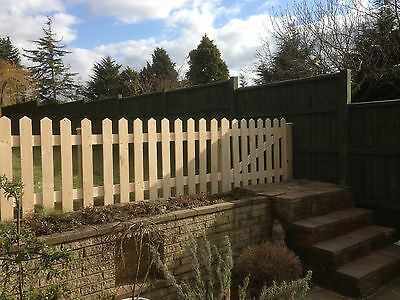 Planed Smooth Picket Fencing