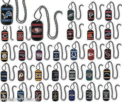 NFL Official Licensed Steel Dog Tag - Assorted Teams We Carry All Teams