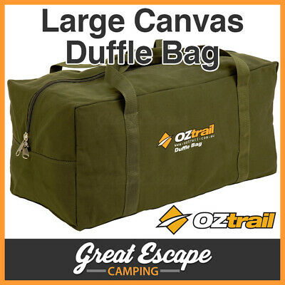 OZTRAIL CANVAS LARGE DUFFLE BAG Luggage LGE