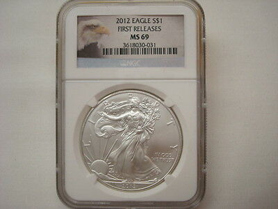 2012 American Silver Eagle - NGC MS69 First Releases - 1ozt. Fine Silver (#LTL6)