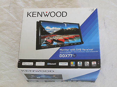 "Kenwood DDX770 Car DVD Player 7"" Touchscreen LCD Double DIN In Dash Receiver WB"
