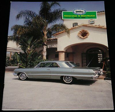 MARCH 1998 GENERATOR & DISTRIBUTER MAGAZINE 1963 CHEVY IMPALA SS COUPE