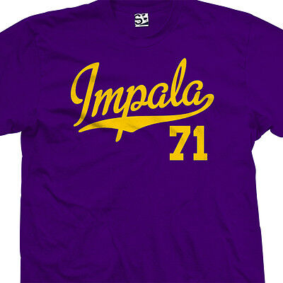 Impala 71 Script Tail Shirt - 1971 Lowrider Classic Car - All Sizes & Colors