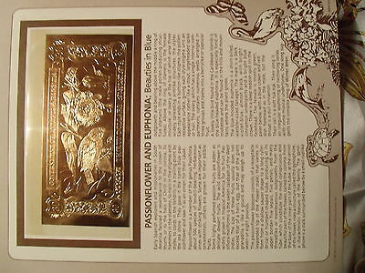 23kt Gold $30 Antigua Bank Note - Passion Flower - RARE