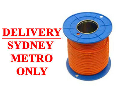 ELECTRA 100m Orange Circular Cable 2 3 4 Core Earth Electrical Wire 100 Metres