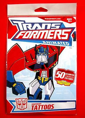 50 Assorted TRANSFORMERS Animated Temporary Tattoos Licensed (1 Pack) FREE POST