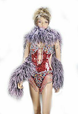 """20 plys Gorgeous full & fluffy Ostrich Feather Boa 71""""long A+ Quality Burlesque"""