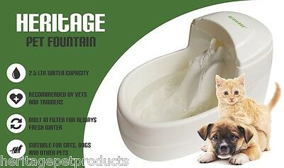 Cat Pet Dog Kitten Water Electric Drinking Fountain Drink Pump Filter Bowl