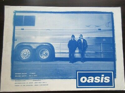 Oasis 1995 Japan Tour Poster Style Concert Program Beady Eye Noel Gallagher