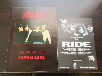 Ride 1991 Japan Tour Poster Style Concert Program Shoegazer Beady Eye Oasis