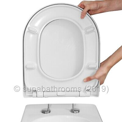 D Shaped Luxury Top Fix Quick Release Soft Close Toilet Seat