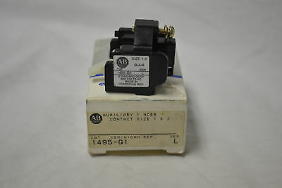 New Allen Bradley 1495-G1 Ser L CONTACT AUXILIARY FOR STARTER OR CONTACTOR