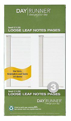 Day Runner Undated Planner Notes Refill, 3.75 x 6.75 Inches (013-200)
