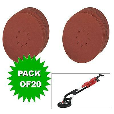 20 x VELCRO  Discs Punched 225 mm wall sanders velcro fixing drywall sanding