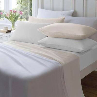 100% Cotton Flannelette Sheet, Fitted / Flat 32cm deep