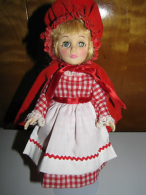 """Effanbee Little Red Riding Hood 11"""" Doll Dated 1975 Storybook Collection Vintage"""