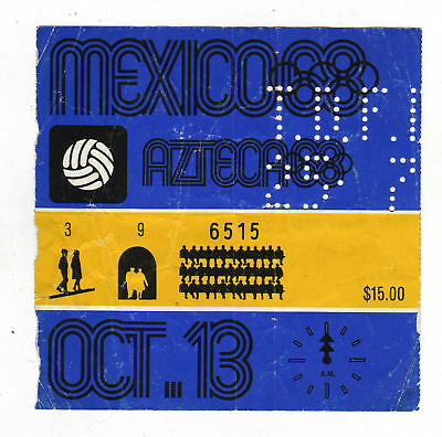 Orig.Ticket   Olympic Games MEXICO 1968    MEXICO - COLOMBIA  !!  VERY RARE