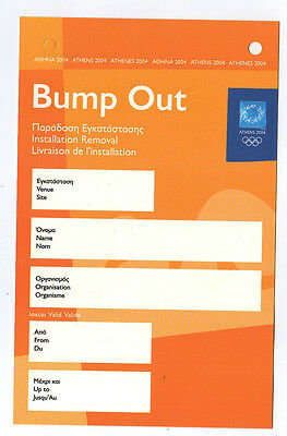 Orig.Pass / ticket     XXVIII.Olympic Games ATHEN 2004  ///   VERY RARE