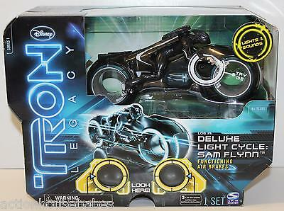 TRON LEGACY - DELUXE LIGHT CYCLE : SAM FLYNN (2010) Series 1 - Picture Box - NEW