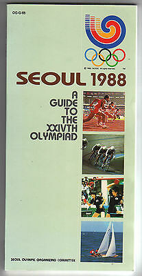Orig.Complete PRG / Guide     XXIV.Olympic Games SEOUL 1988  !!    VERY RARE