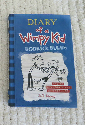 "DIARY OF A WIMPY KID ""RODRICK RULES"" by Jeff Kinney (2008, HARDCOVER)"
