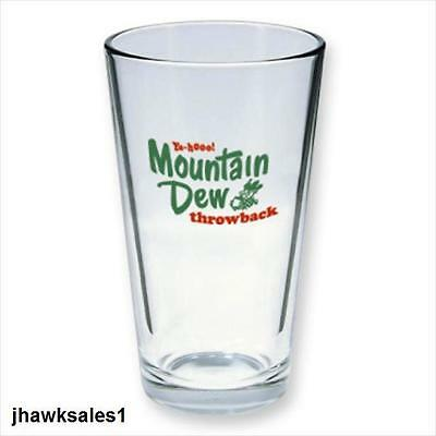 16oz. Mountain Dew Throwback Glass Collectors Glass Heavy Quality *NEW