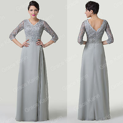 2016 Lace Chiffon Evening Gown Formal Bridesmaid Long Prom Party Dress Plus Size