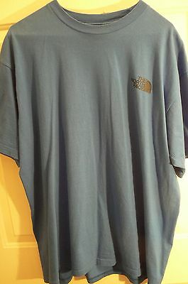 THE NORTH FACE 'NEVER STOP EXPLORING'  T-SHIRT-MENS L-ROYAL BLUE-100% COTTON-NWT