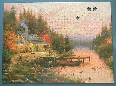 Thomas Kinkade End of a Perfect Day 1000 Piece Jigsaw Puzzle