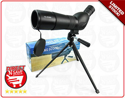 15-45 x 60 Zoom Spotting Scope Telescope Tripod High Quality Precision Optical