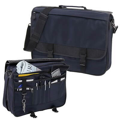 Messenger Bag Akten Dokumenten Tasche College Mappe Businessbag schwarz/blau