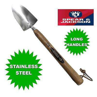 Spear & Jackson Traditional Stainless Steel Long Handled Trowels 18""
