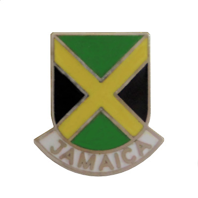 Jamaica Flag Shield Pin Badge - 1144