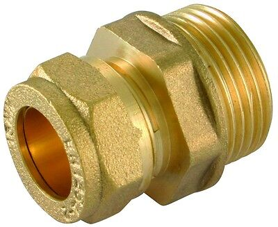 "BSP Male x Brass Straight Coupler 1/2"" to 1.1/4"" Sizes NEW"