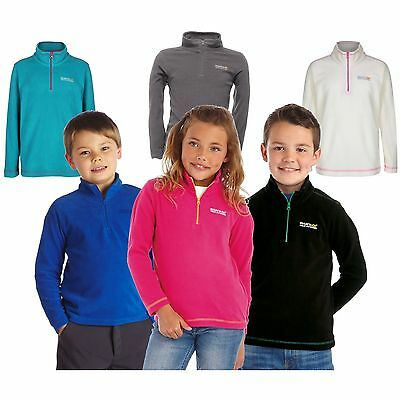 Regatta Hotshot Kids Fleece Girls Boys School Zip Top Jumper Hot Shot II Childs