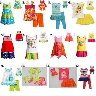 "Dollie Me  2-14 and 18"" doll matching  dress outfit clothes fit american girl"