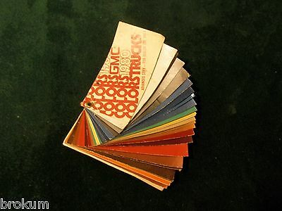 1980 Gmc Truck Color Paint Chip Samples All Models Original   (Nd)