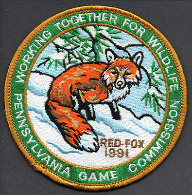 Pa Penna Pennsylvania Game Commission NEW WTFW 1991 Red Fox patch