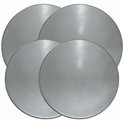 """NEW Set of 4 Stainless Steel Round Burner Covers 8"""" & 12"""" Kitchen Heavy Duty"""