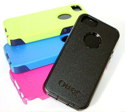 for iPhone 5 5S - New OtterBox Commuter HARD&SOFT Rubber Hybrid Skin Case Cover