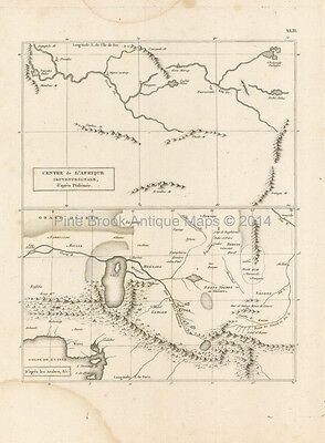 Central Africa Antique Map Pinkerton 1804 Original