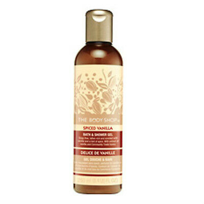 The Body Shop Wash SPICED VANILLA Body Wash Gel NEW LimitedEd