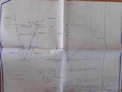 WWII era Cessna Aircraft CO Monoplane blueprints DATED Sep-27-1945  17x21