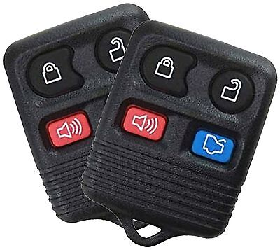 Best Replacement Keyless Entry Remote 4 Button Key Fob For Ford Car Truck 2 Pack
