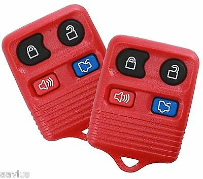 Best 2 Replacement Keyless Entry Remote 4 Button Key Fob For Ford Car SUVs RED