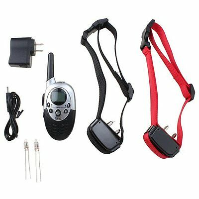 1000 Yard Rechargeable&Waterproof 2 Dog Shock Training Collar with Remote 4level