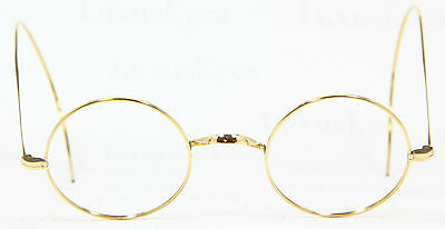 1940S Gold filled Round Spectacles Brille Lunettes Eyeglasses Antique Rund 40-22
